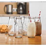 Country Set/6 clear 10.5oz milk bottle
