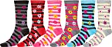 Sakkas Womens Poly Blend Soft and Stretchy Crew Pattern Socks