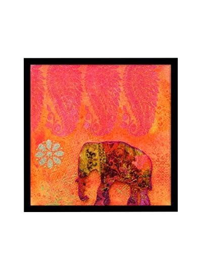 Pink Elephant Framed Corkboard