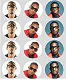 12 Tinie Tempah rice paper fairy cup cake 40mm toppers pre cut decoration