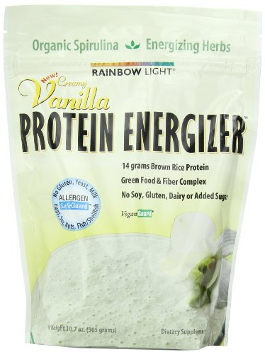 Rainbow Light Protein Energizer Food-Based Dietary Supplement Powder Vanilla Flavor 10.7-Ounces Bags (Pack Of 2)