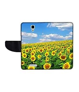 KolorEdge Printed Flip Cover For Gionee Pionee P4 Multicolor - (45KeMLogo09133GioneeP4)
