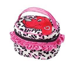 Douglas Toys Clifford Pink Leopard Whatever Sak Plush Purse