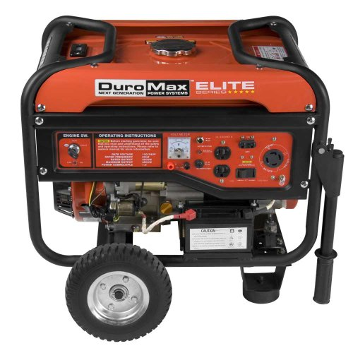 DuroMax DuroMax Elite MX4500E 4,500 Watt 7 HP OHV 4-Cycle Gas Powered Portable Generator With Wheel Kit & Electric Start