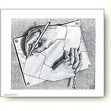 M.C. エッシャー 描く手 アートポスター