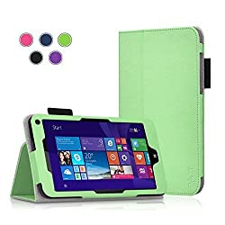 HP Stream 7 Case - Exact [Pro Series] PU Leather Folio Case for HP Stream 7 (2015) Green
