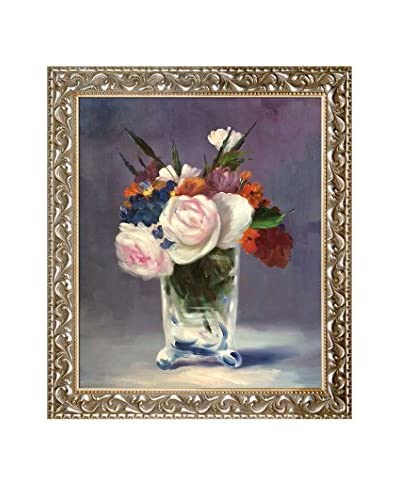 "Édouard Manet ""Flowers In A Crystal Vase"" Framed Hand-Painted Oil Reproduction"