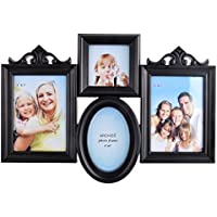 Archie Plastic And Glass Family Photo Frame (48 Cm X 33 Cm X 4 Cm, Black, 377-FFB)