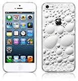 STYLEaphone® CLIP ON LOW PROFILE 3D BUBBLE EFFECT HARD PLASTIC CRYSTAL CASE FOR IPHONE 5 5S (CLEAR)