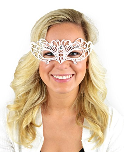 Mask-It Metal Half Mask, 8-Inch, White
