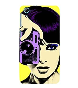 Vizagbeats girl with camera Back Case Cover for HTC Desire 826::HTC Desire 826 Dual