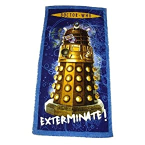 Kids/Childrens Doctor Who Dalek Cotton Beach/Bath Towel