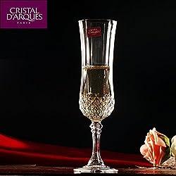 Cristal D'arques Long Champ Champagne Flute Glass,140 ml,Set of 6