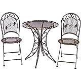 nostalgie gartenstuhl 9kg schmiedeeisen klappstuhl stuhl antik stil braun eisen. Black Bedroom Furniture Sets. Home Design Ideas