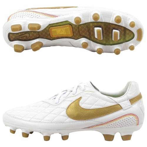 : Nike Ronaldinho Dois FG White Mens Soccer Shoes - 324761-173: Shoes
