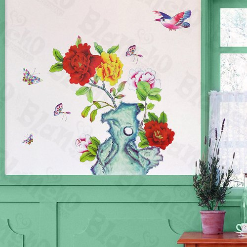Flowers Pot - Large Wall Decals Stickers Appliques Home Decor