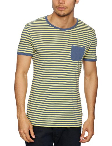 Esprit EDC Patterned Men's T Shirt Sun Yellow