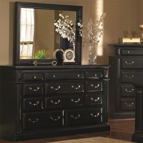 Distressed Black Dresser front-938596