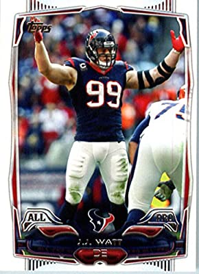 2014 Topps NFL Football Card #67 J.J. Watt Houston Texans All Pro