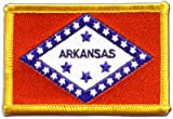 USA Arkansas Flag embroidered Iron-On Patch