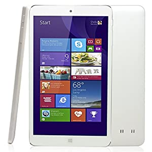 "Dragon Touch I8 8"" Quad Core Intel Windows Tablet PC, Intel Baytrail-T Quad-Core Z3735G 4x1.83GHz, Windows 8.1 & Free Office 365, 1280x800 IPS Full-Angle Display, 1GB RAM 16GB FLASH, Bluetooth 4.0, 2.0MP Dual Camera, Micro HDMI [ by TabletExpress ]"