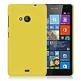 WOW Imagine Matte Rubberised Hard Case Back Cover For Nokia Microsoft Lumia 535 (Yellow)