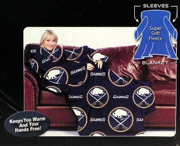 Buffalo Sabres (Classic Logo) Blanket/SLEEVES Comfy Throw ADULT at Amazon.com