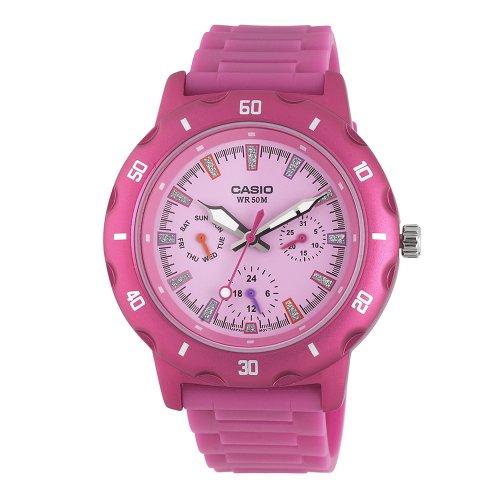 casio s ltp1328 4ev sport classic pink analog
