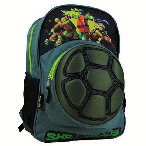 TMNT Big Boys 3D Turtle Shell Backpack