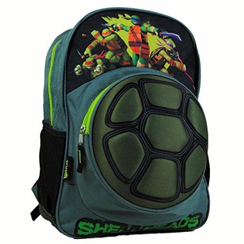 TMNT Big Boys 3D Turtle Shell Backpack