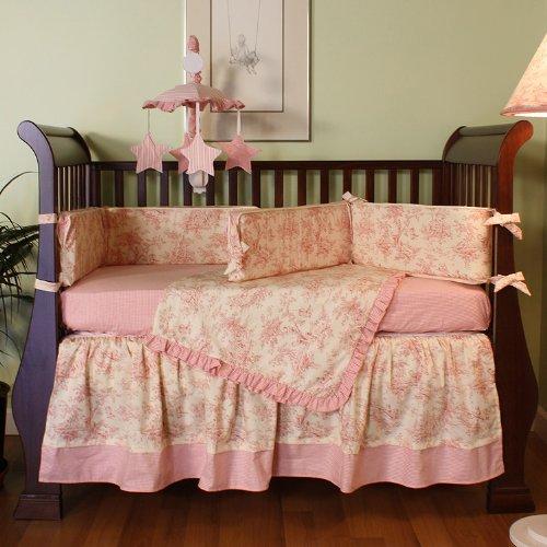 Hoohobbers 4-Piece Crib Bedding, Etoile Pink