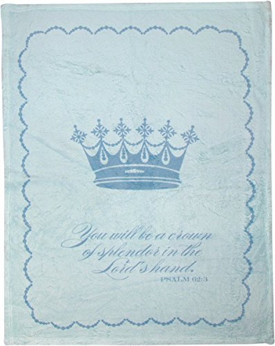 Manual You Will Be A Crown of Splendor Dyed Plush Baby Nursery Blanket By Terri Puma SAYWSB 30x40""