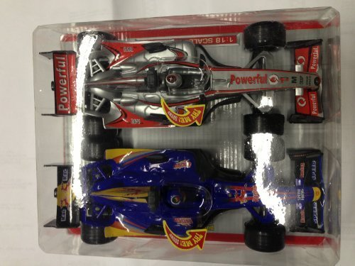 Racing 1:18 Scale Racing Cars two pack (Assorted Colors)