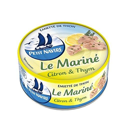 Petit Navire - Thon mariné citron & thym - La conserve de 110g - (pour la quantité plus que 1 nous vous remboursons le port supplémentaire)