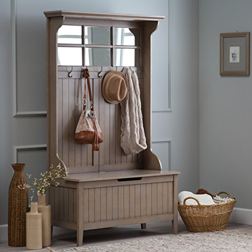 Hall Storage Bench Gray Entryway Hall