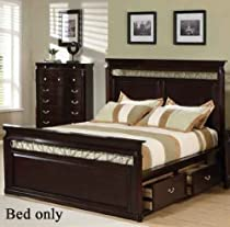 Hot Sale Coaster Manhattan Open Panel Bed in Dark Espresso Finish - California King