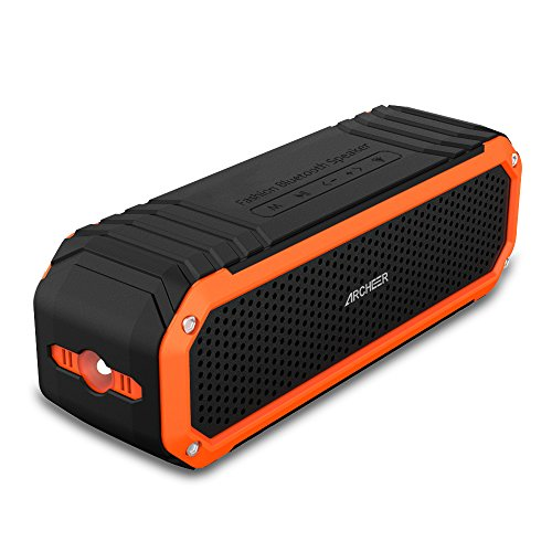 Archeer-Wireless-Bluetooth-40-Waterproof-Shockproof-Outdoor-Speaker-Up-to-12-Hour-Playtime-Double-5W-Speaker-Built-in-Mic-Flashlight-Hands-Free-Speakerphone-Work-for-Ipad-Iphone-Samsang-Android-Smartp
