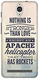 The Racoon Lean Apache Helicopter hard plastic printed back case/cover for Asus Zenfone C ZC451CG
