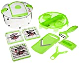 Genius Smart 26211 Salad Chef 12-Piece Kitchen Set Green
