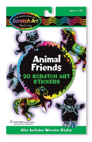 Melissa & Doug Scratch Magic Animal Friends Stickers - 1