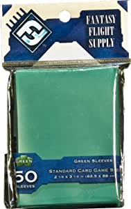 50 Green Sleeves: Standard Card Game Size