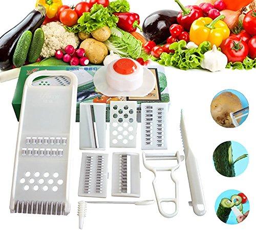 BEST4UBUY Multipurpose Kitchen Helper Dining Cooking Tool Fruit Vegetable Slicer Knife Cutter Dicer Chopper Peeler Shreder 10 in 1