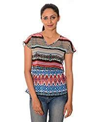 Oviya Women's Multicolor Printed Tops