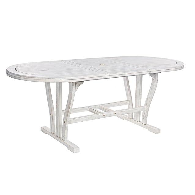 Tavolo in Legno Sbiancato Allungabile