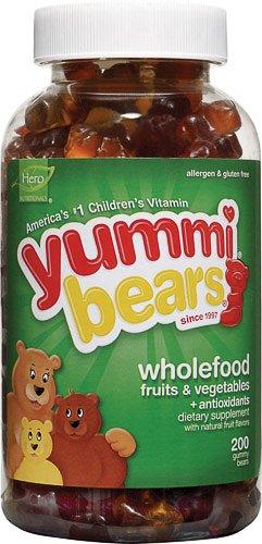 Hero Nutritionals Yummi Bears Whole Food Supplement -- 200