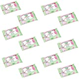 12 x Simple Baby Tatty Teddy Moisturising Baby Wipes 64 Wipes Soothing Chamomile
