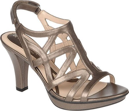 Naturalizer Women's Danya Sandals,Nickel Alloy Metallic PU,9 M US