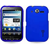 CoverON® Hard Snap-on Shield BLUE RUBBERIZED Faceplate Cover Sleeve Case for PANTECH P9060 POCKET (AT&T) with TRI Removal Tool Case [WCH129]