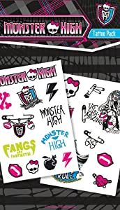Monster High Temporary Tattoos