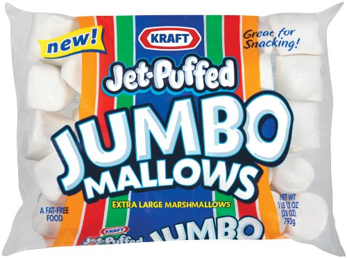 Kraft Jet Puffed Jumbo Marshmallow, 24-Ounce (Pack of 4)